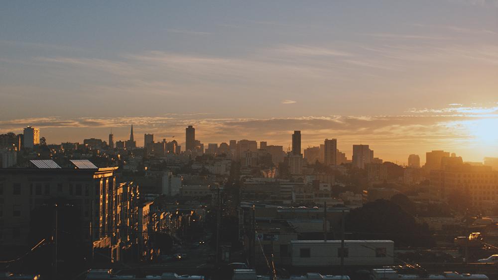 Sonnenaufgang in San Francisco