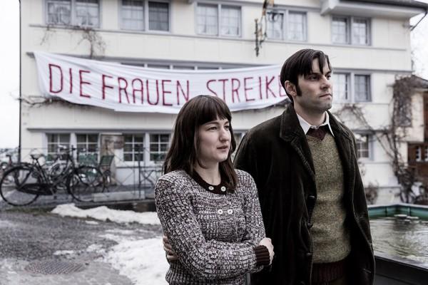 Trogen, Appenzell, Schweiz, 30. Maerz 2016 - Die goettliche Ordnung, Standbild Film Szene 66, 78 und 105.