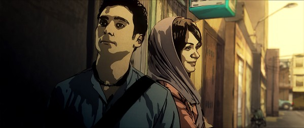 Babak and Donya in the Street