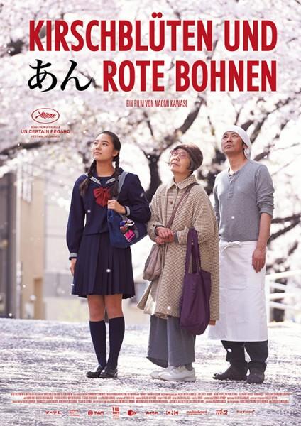 Kirschblueten-und-rote-Bohnen-Poster