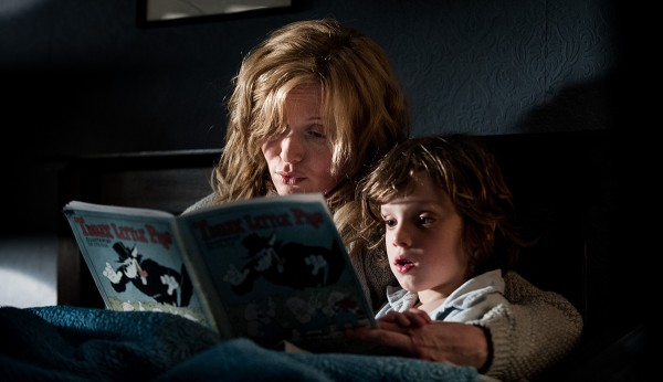 Essie Davis (L) & Noah Wiseman(R) in the 2014 film THE BABADOOK, directed by Jennifer Kent.